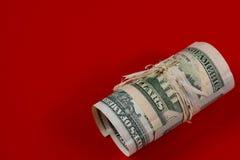 US dollars cash roll Royalty Free Stock Photo