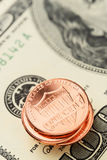 US dollars and cents Stock Images