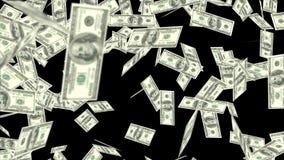 US-Dollars, die auf Schwarzes mit luma Lech fallen lizenzfreie abbildung