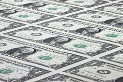 US Dollars. 1 US Dollar uncut sheet Royalty Free Stock Images