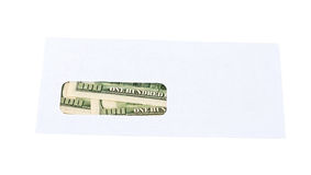 US dollars in the envelope Stock Image