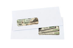 US dollars in the envelope Stock Photography