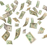 US Dollars falling Royalty Free Stock Photo