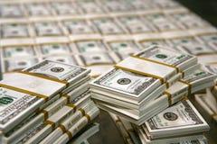 US-Dollars im Geldspeicher stockfoto