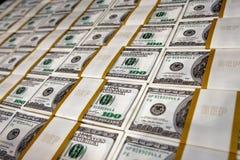 US-Dollars im Geldspeicher stockfotografie