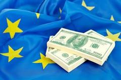 US dollars int the EU Royalty Free Stock Photos