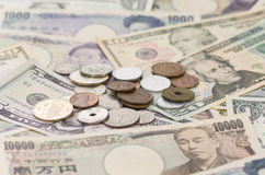 US Dollars, Japanese Yen Royalty Free Stock Photo