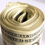 US Dollars Rolled Up Royalty Free Stock Photo