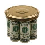 US-Dollars unter einer Abdeckung Lizenzfreie Stockfotografie