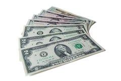 US Dollars : US dollar bills isolated on white background. Royalty Free Stock Photo