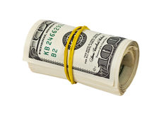 US dollars wrapped by ribbon Royalty Free Stock Image