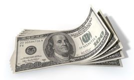 US dollarsedelspridning Arkivbilder