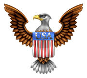 US Eagle Shield Design Stock Images