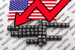 US economic debt. On a white background Stock Images