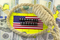 US economic default Royalty Free Stock Images