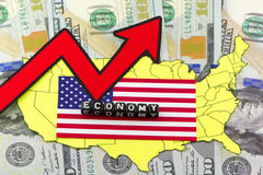US economic recovery Royalty Free Stock Photography