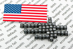 US economic revival. On a white background stock illustration