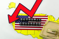 The US economy. Is in stagnation Stock Photos