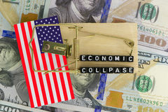 The US economy. Is in a trap Stock Image
