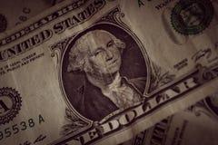 US ein Dollar-Anmerkungen lizenzfreie stockfotografie