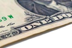 US ein Dollarschein-Nahaufnahmemakro, 1 usd Banknote, George Washing Lizenzfreie Stockfotografie