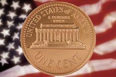 US eine Cent-Münze Lizenzfreie Stockbilder