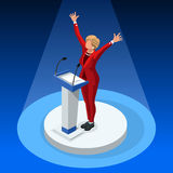 Us Election 2016 Winner Pools Icon Set 02. Us Election 2016 winner news. Democrat candidate win infographic. Vote pools result. Usa Presidential debate symbol Royalty Free Stock Image