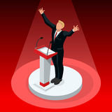 Us Election 2016 Winner Pools Icon Set Republican. Us Election 2016 winner news. Republican candidate win infographic. Vote pools result. Usa Presidential debate Royalty Free Stock Photos