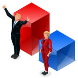 Us Election 2016 Winner Pools Icon Set Republican Win. Us Election 2016 winner news. Republican candidate win infographic. Vote pools result. Usa Presidential Royalty Free Stock Photo