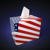 US elections. Ballot box with flag colors Stock Photography