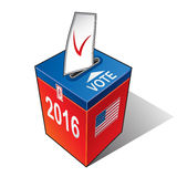 US elections 2016. Ballot box with the flag of the USA. United States presidential election 2016 Stock Illustration