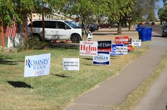 USA:  Elections 2012: Front Yard Campaign Stock Photo