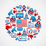 US elections icons circle Stock Photography