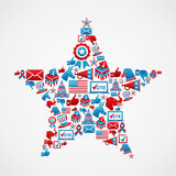 US elections icons star shape Stock Images