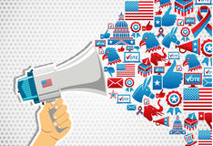 US elections: politics message promotion Stock Photography