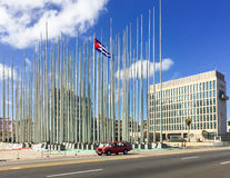 US Embassy in Havana Cuba Stock Photo