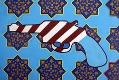 US Embassy in Tehran. Graffiti at the former US embassy in Tehran Stock Photos
