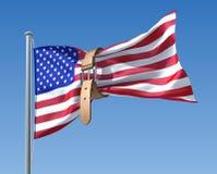 US-Etatkrise lizenzfreie abbildung
