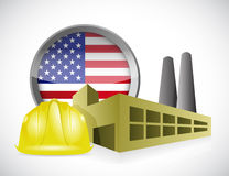 Us factory concept illustration design Royalty Free Stock Photo