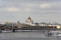 The capital of Russia in early spring stock image