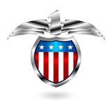 US fantasy badge over white Stock Photo