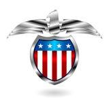 US fantasy badge over white Stock Photo