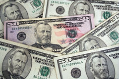 US fifty dollar background texture Stock Photography