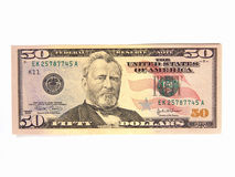 US Fifty Dollar Bill Royalty Free Stock Image