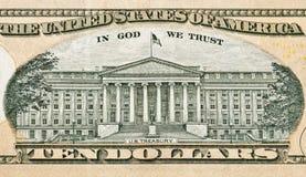 US-Fiskus zieht an sich vom zehn Dollarschein zurück Stockbilder