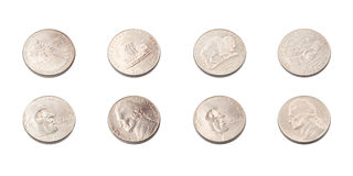 US five cents coins collection Stock Photography