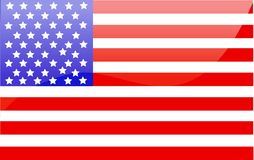 US flag. Vector illustration art Royalty Free Stock Images