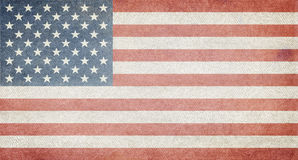 US Flag. Which has been distressed and faded stock photo