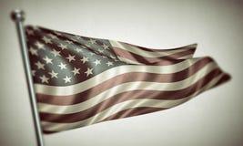 Us flag. On white background Royalty Free Stock Photos