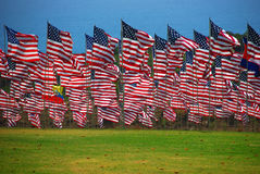 US Flag. United State flag floating in the wind Stock Photo